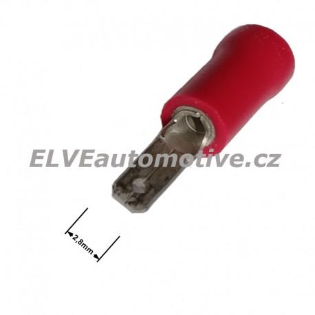 Faston 2,8mm zástrčka lisovací červená