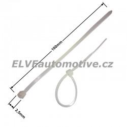 Stahovací pásek bílý 100x2,5mm, balení 100ks
