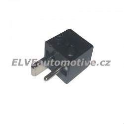 Reproduktorový konektor černý, vidlice