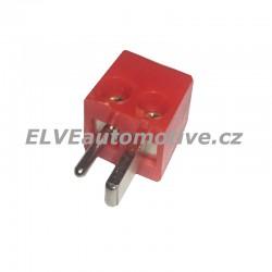 Reproduktorový konektor červený, vidlice