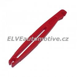 Pinzeta na nožové a kulaté pojistky, červená