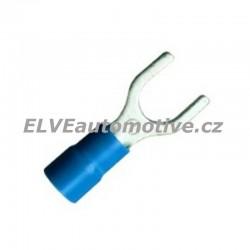 Vidlice lisovací izolovaná modrá BF-U6, 100ks