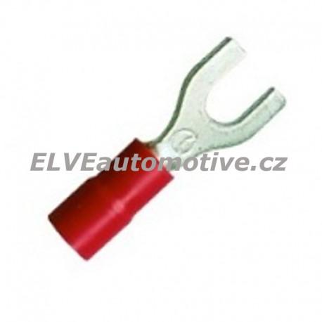 Vidlice lisovací izolovaná červená RF-U8, 100ks