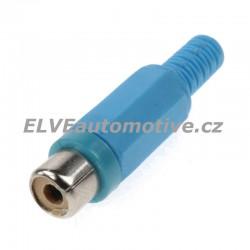 Konektor CINCH modrý, samice