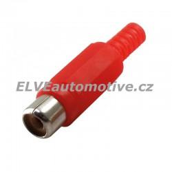 Konektor CINCH červený, zásuvka na kabel