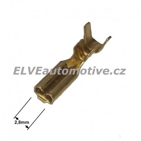 Konektor faston 2,8mm,  objímka neizolovaná, pro vodič 1mm2