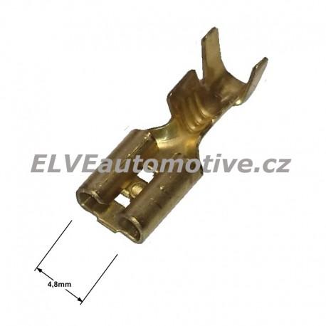 Konektor faston 4,8mm,  objímka neizolovaná, pro vodič 1mm2