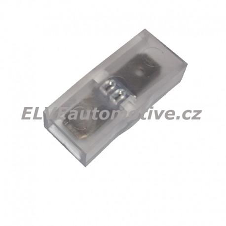 Spojka pro konektory faston 6,3mm 1+1, izolovaná