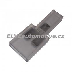 Spojka pro konektory faston 6,3mm 2+1, izolovaná