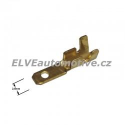 Faston 2,8mm zástrčka pro vodič 1,0 mm2