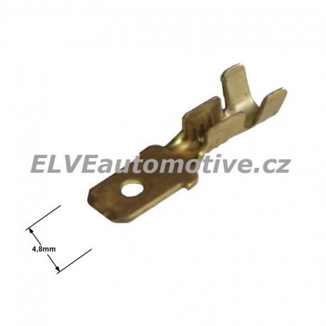 Faston 4,8mm zástrčka pro vodič 1,0 mm2