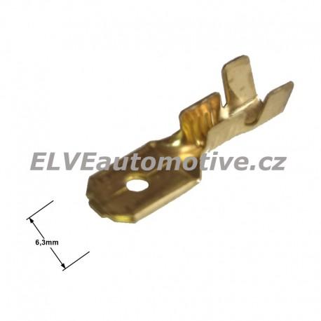 Faston 6,3mm zástrčka pro vodič 2,5 mm2
