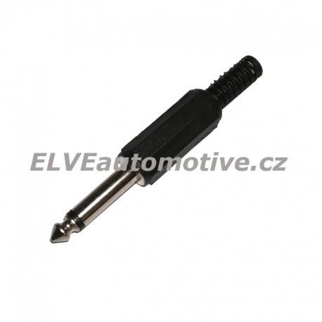 Jack 6,3 mm mono vidlice na kabel