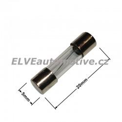 Skleněná pojistka 630mA 5x20mm F